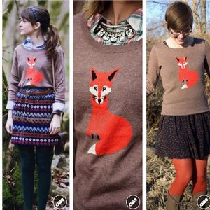 Blogger Old navy brown fox intarsia sweater 2290